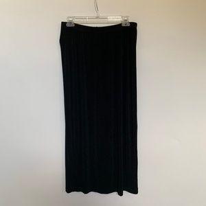 Carole Little Maxi Skirt Black Travel Knit 1X PLus